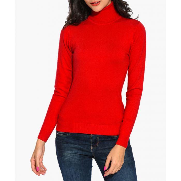 Image for Red cashmere blend jumper