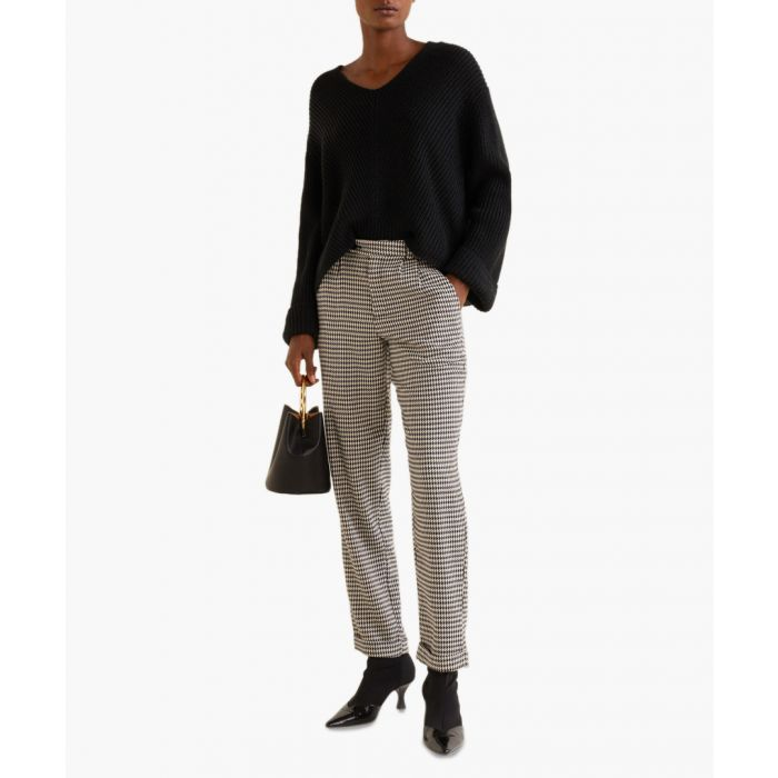 Image for Beige houndstooth trousers