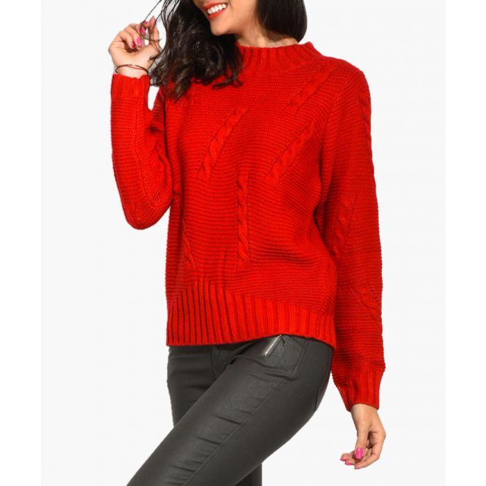 Image for Berry cashmere and mohair blend jumper