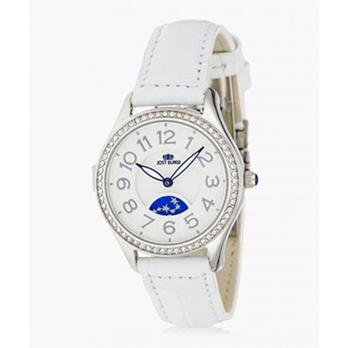 Image for Stella white leather watch