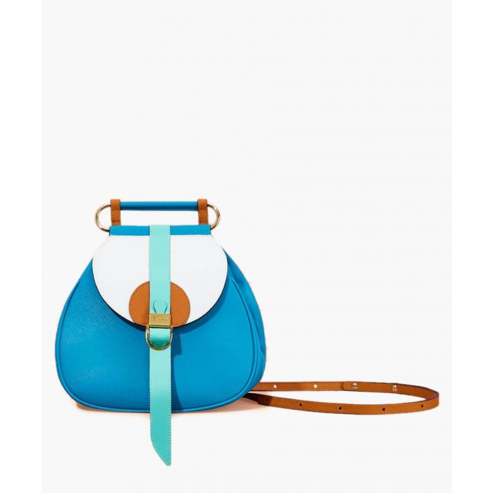 Image for Blue leather backpack