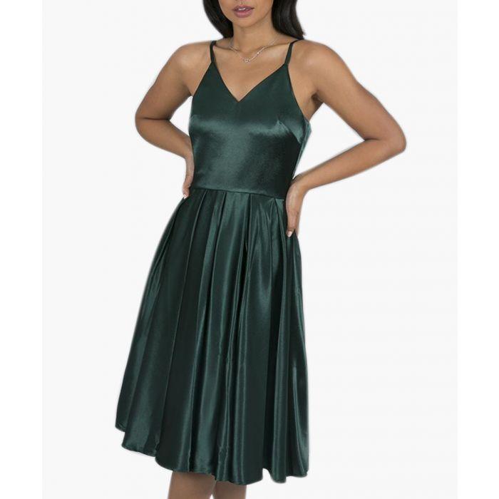 Image for Suzie green midi dress