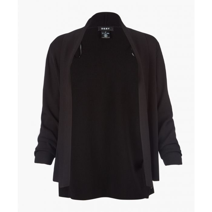 Image for Black long sleeve open front cardigan