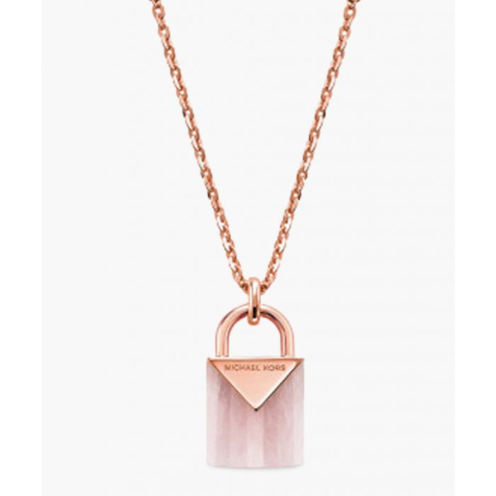 Image for Rose gold-plated pink necklace
