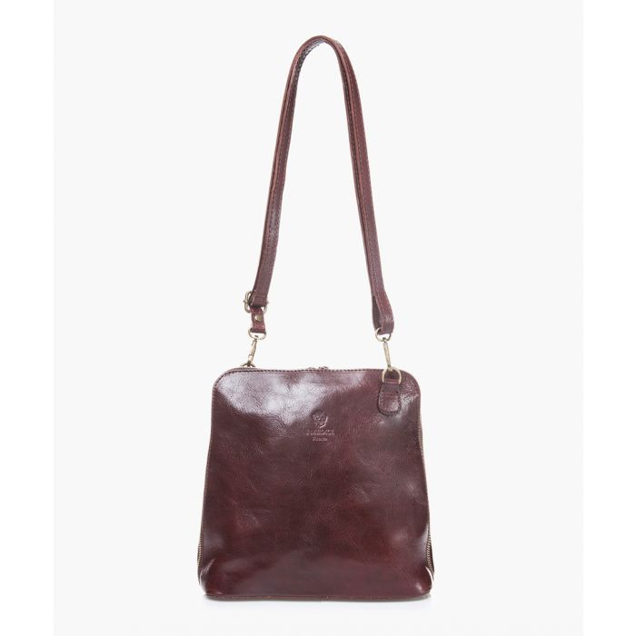 Image for Dark brown leather shoulder bag