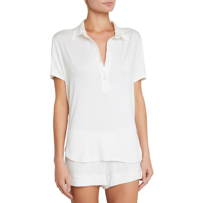 Image for Agnes ivory boyfriend top