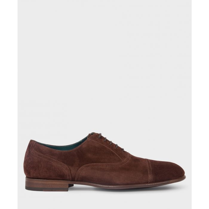 Image for Espresso suede formal shoes