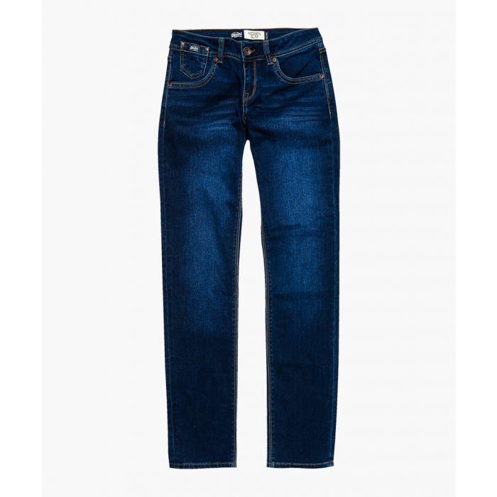 Image for Imogen blue cotton blend slim jeans