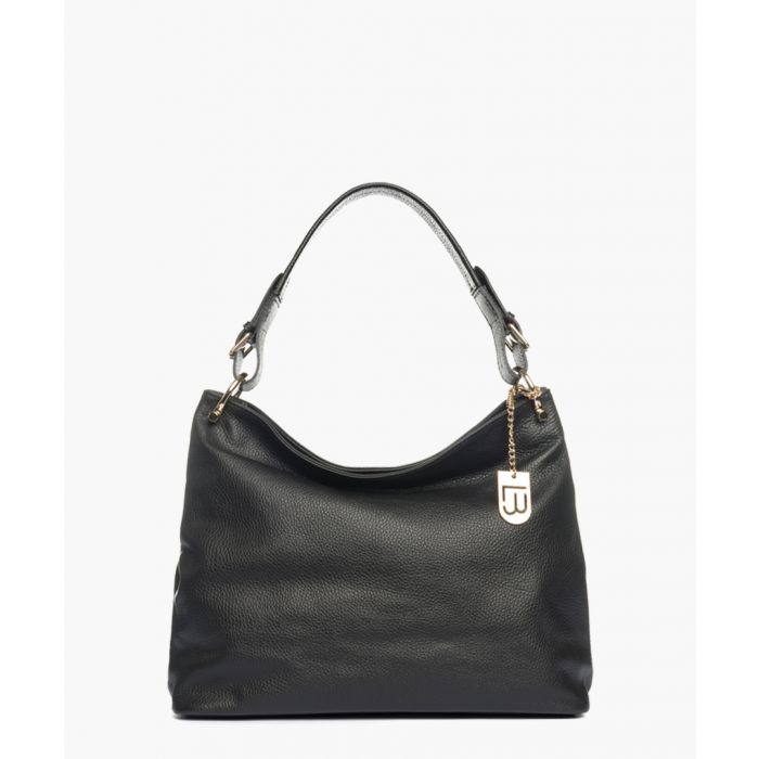 Image for Montichiari black leather grab bag