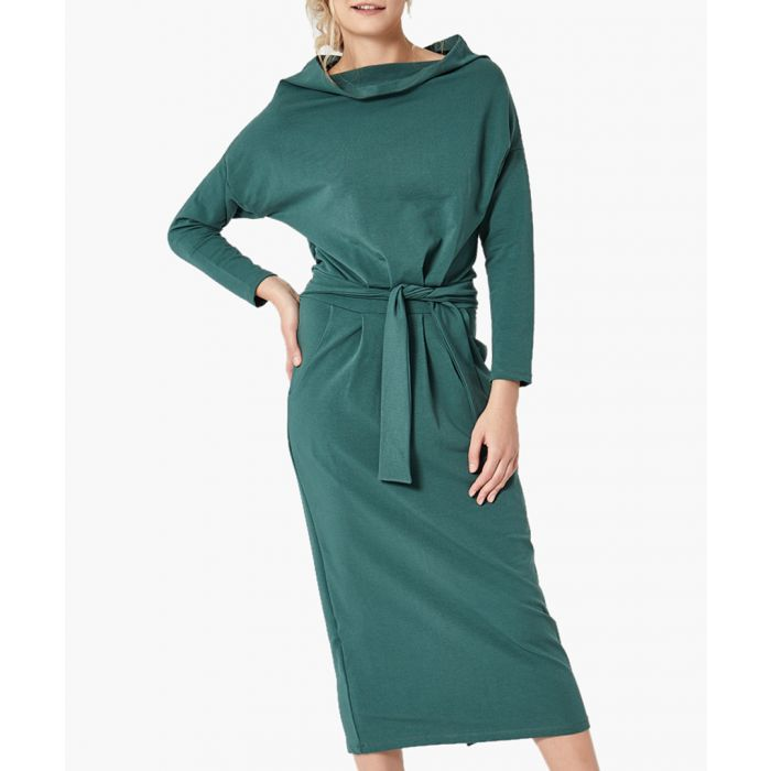 Image for Green loose cut dress
