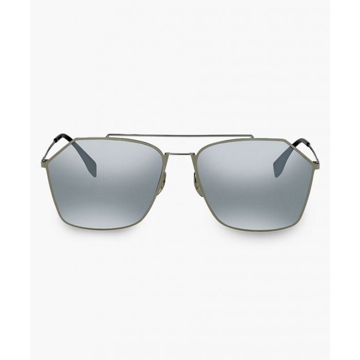 Image for Ruthenium and silver-tone mirror sunglasses