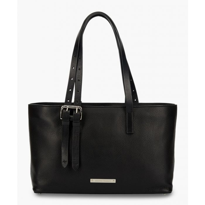 Image for East/West Dean black leather tote