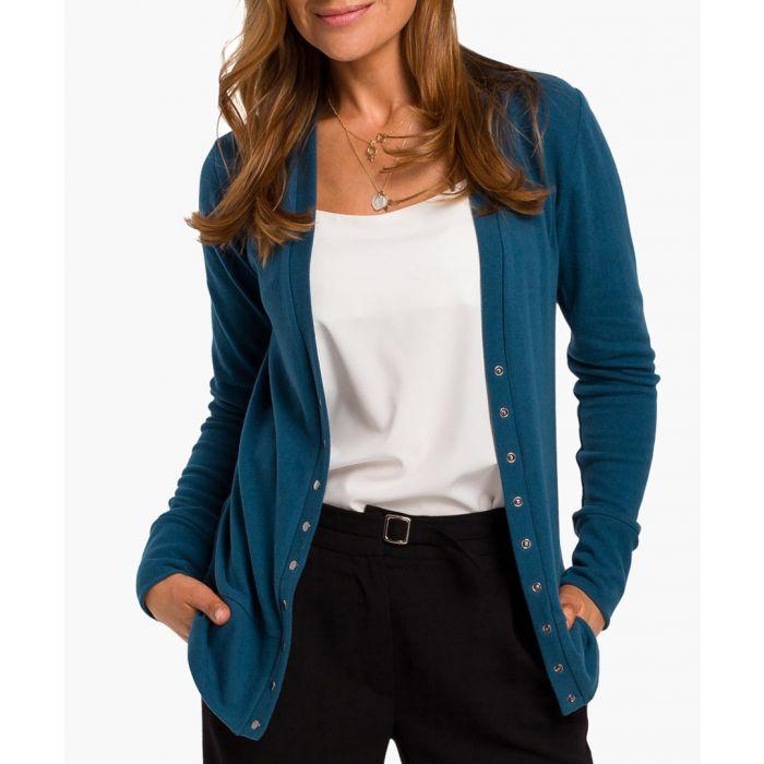 Image for Ocean blue cotton blend cardigan