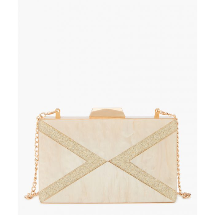 Image for Gold-tone box clutch