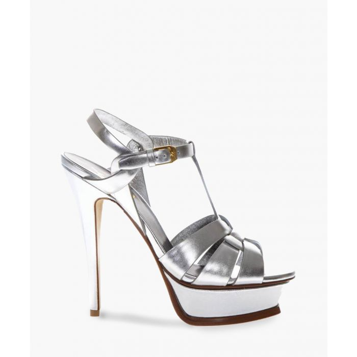 Image for Tribute silver-tone leather sandals