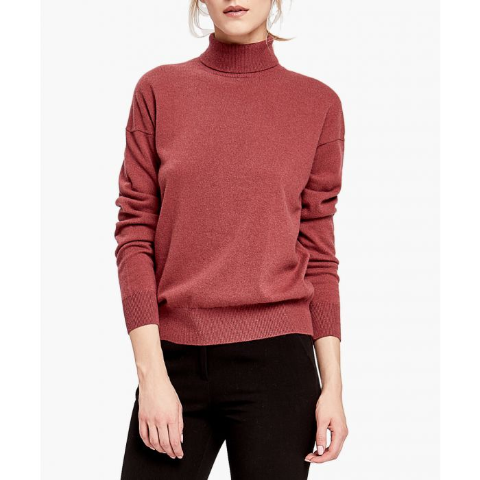 Image for Red pure cashmere roll neck jumper