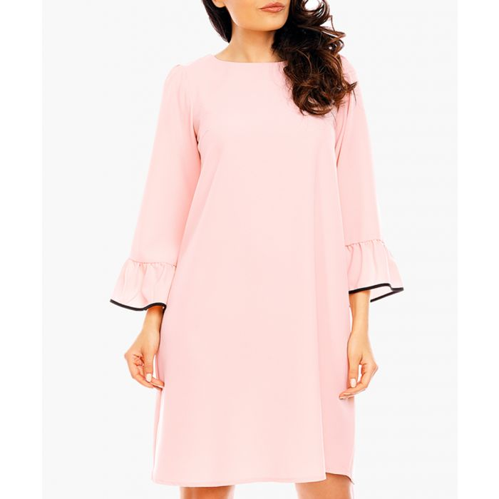 Image for Salmon Woven Dress