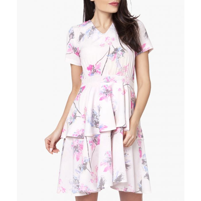Image for Pink, Grey & Full Colours Woven Dress