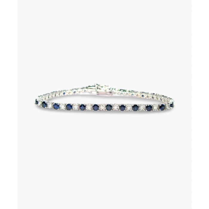 Image for 9k white gold sapphire and diamond bracelet