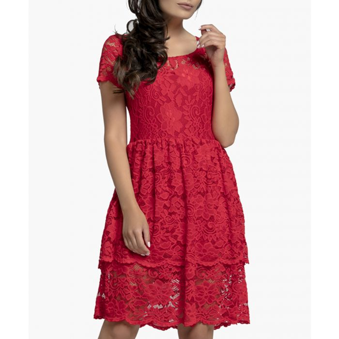 Image for Red Knitted Dress