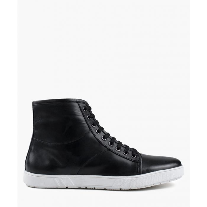 Image for Black rubber hi-top Sneaker boots