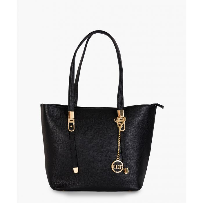 Image for Alerami black leather shopper