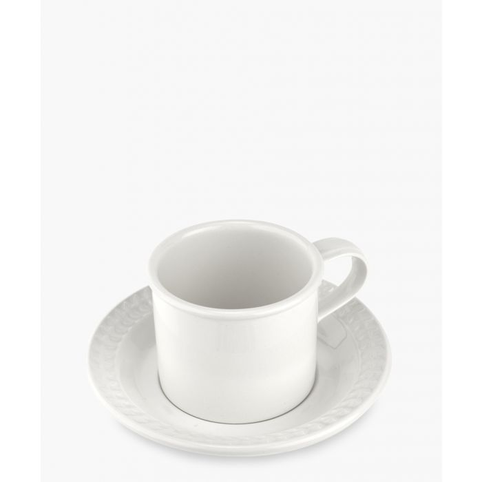 Image for 2pc Botanic Garden Harmony breakfast white cup and saucer