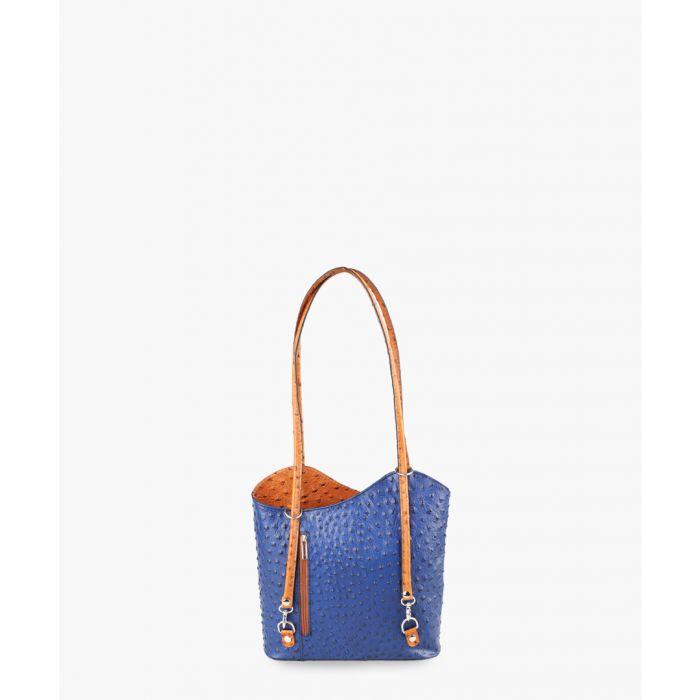 Image for Blue leather shoulder bag