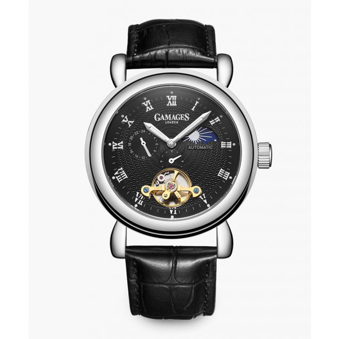 Image for Black moon phase automatic watch