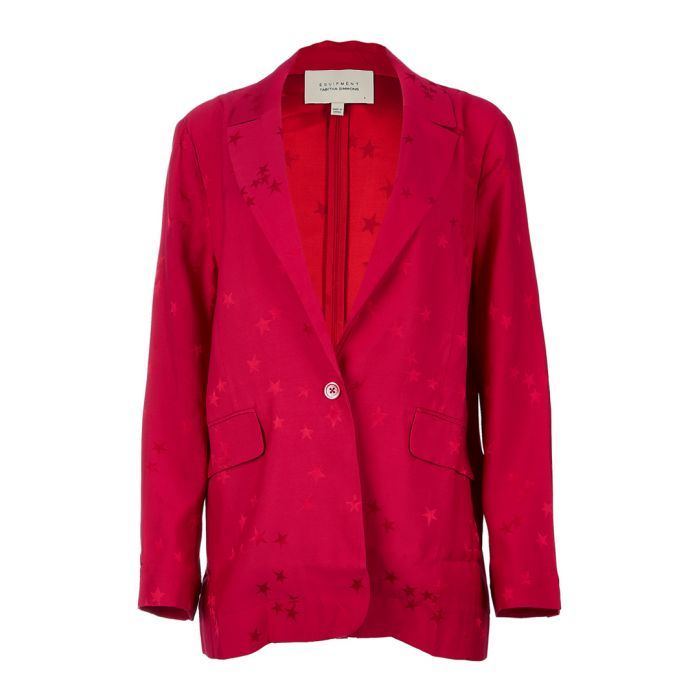 Image for Hampton crimson scatter blazer