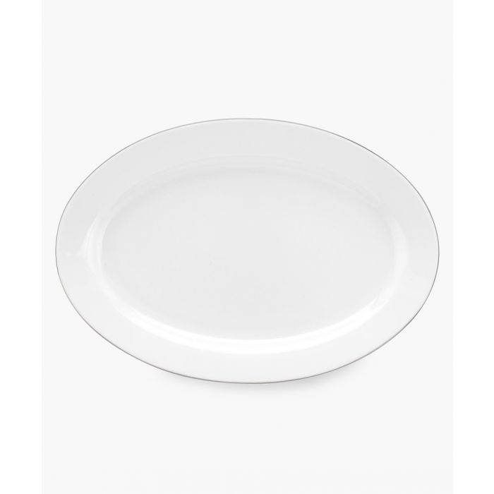 Image for Serendipity platinum band bone china oval platter