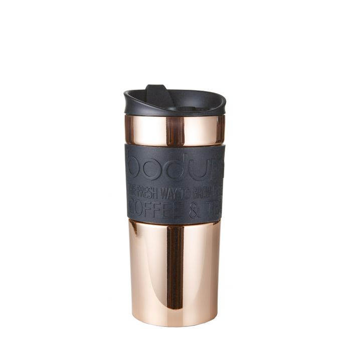 Image for Copper-tone stainless steel travel mug 12 oz