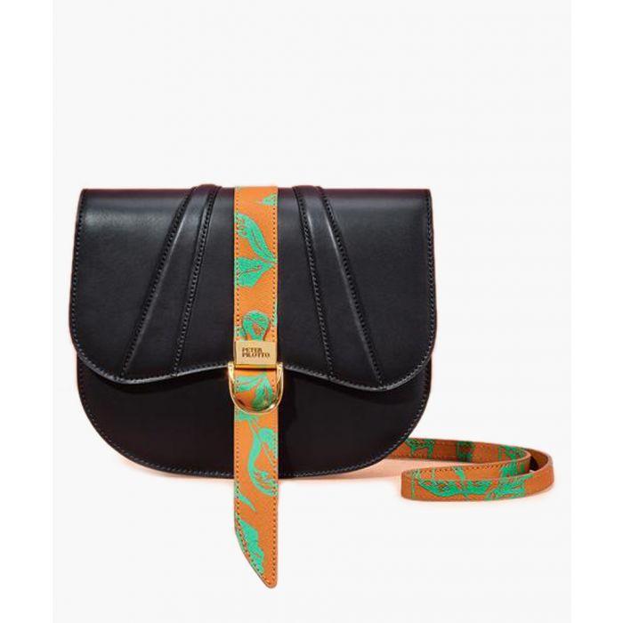 Image for Black leather satchel
