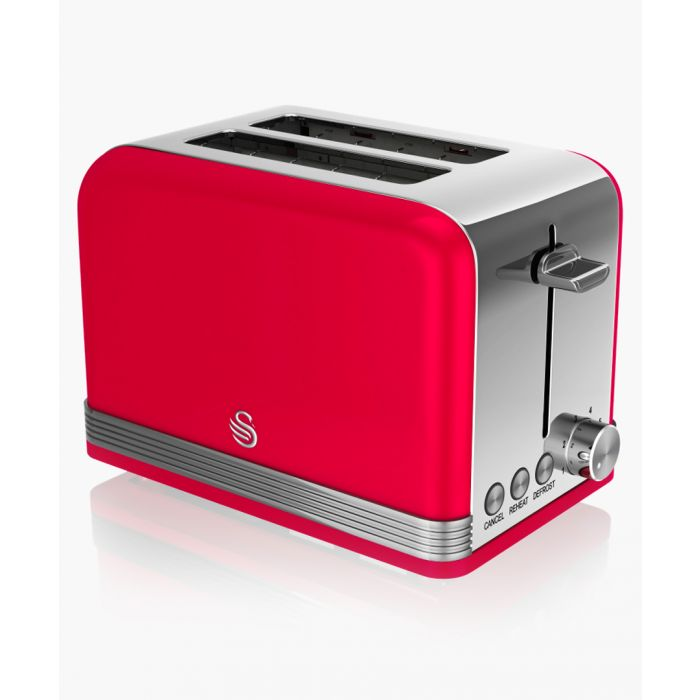 Image for Red retro 2-slice toaster