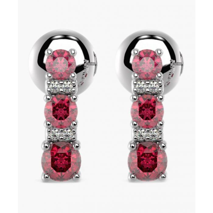 Image for 9k yellow gold and 0.50ct red rubies and diamonds tower earrings