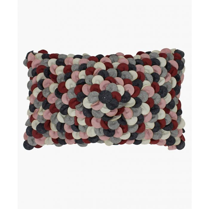 Image for Petals multi-coloured textured cushion