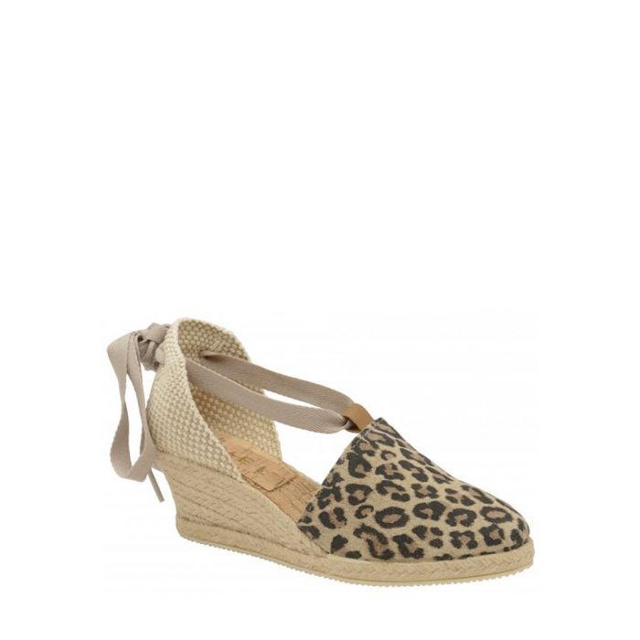 Image for Antora leopard suede wedge sandals