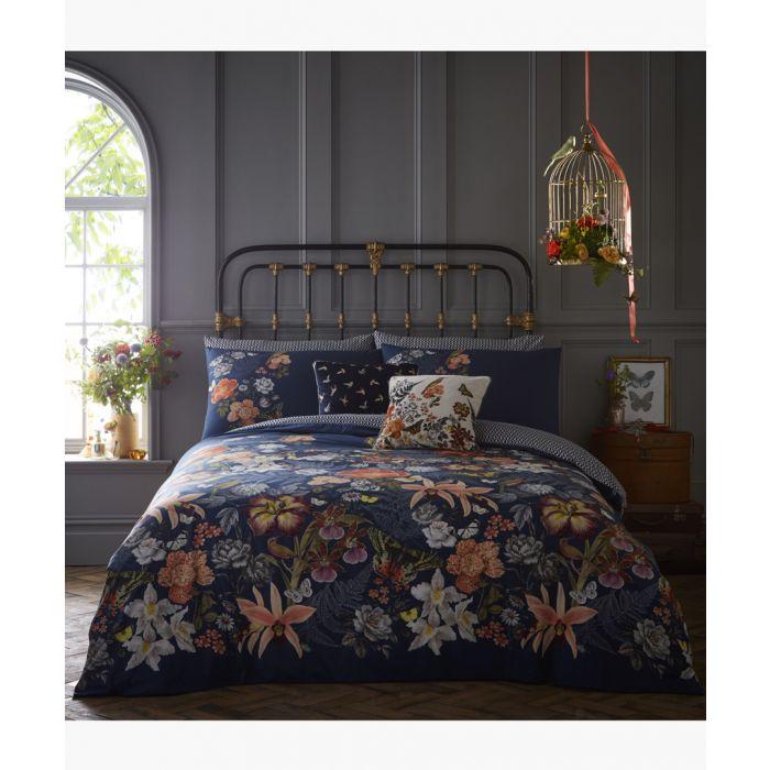 Image for Botanical multi-coloured king duvet set