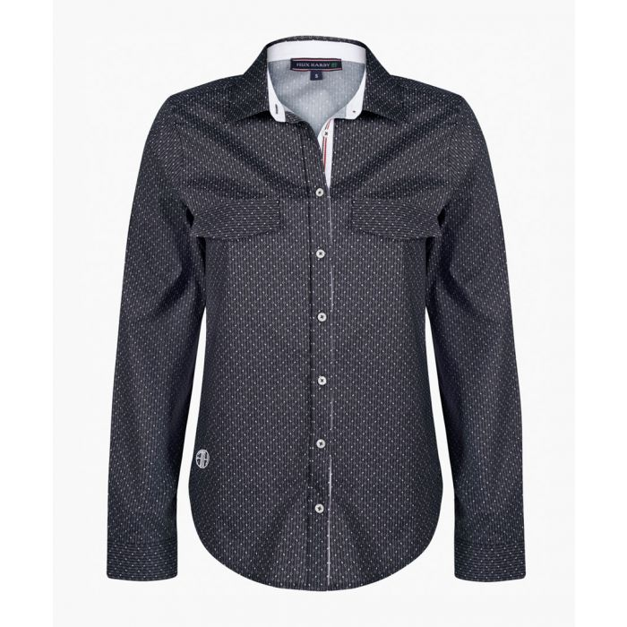 Image for Black and white cotton shirt