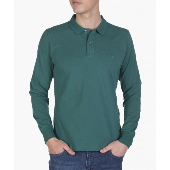 Image for Green long sleeved polo shirt