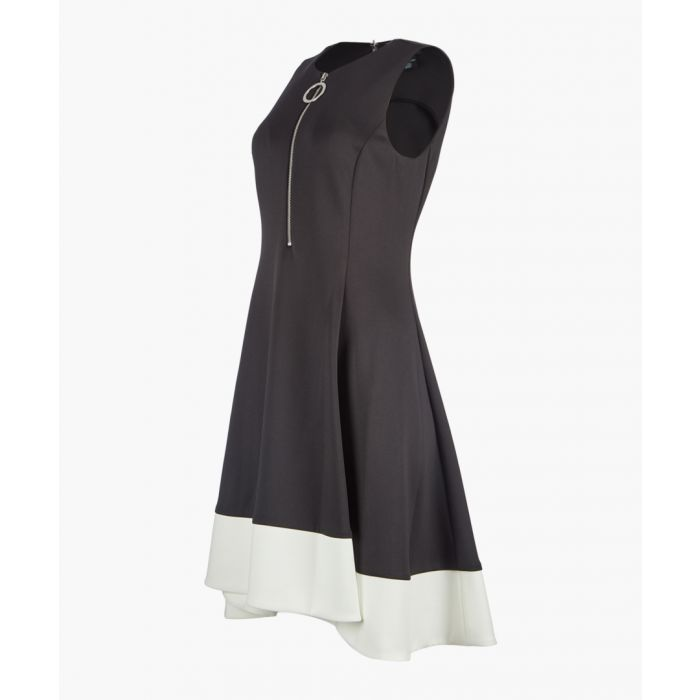 Image for Black fit and flare dress