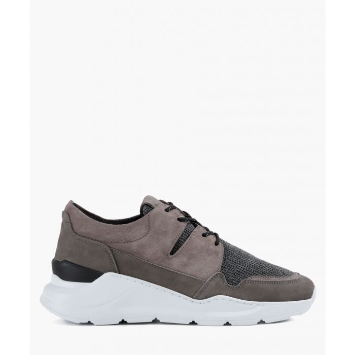 Image for Grey leather trainers