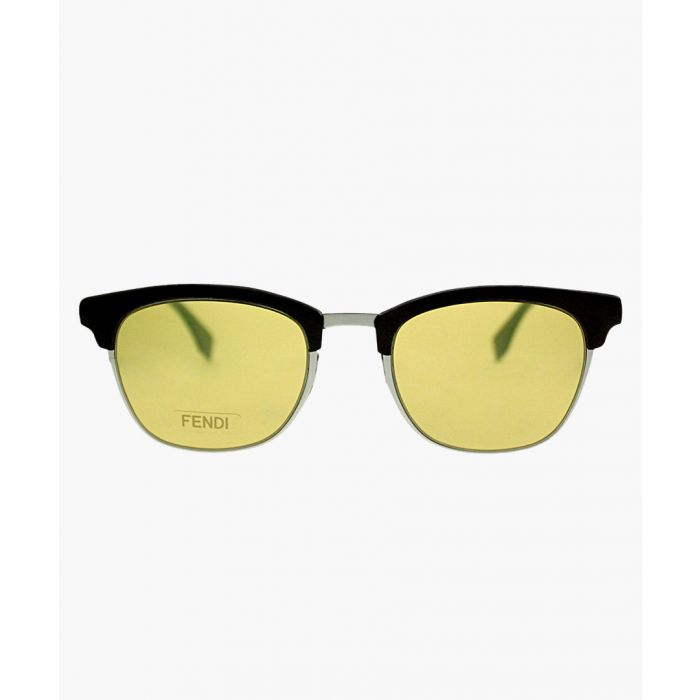 Image for Silver-tone and brown sunglasses