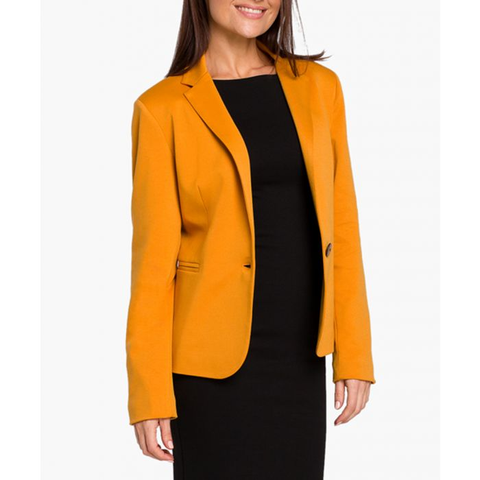 Image for Yellow cotton blend jacket