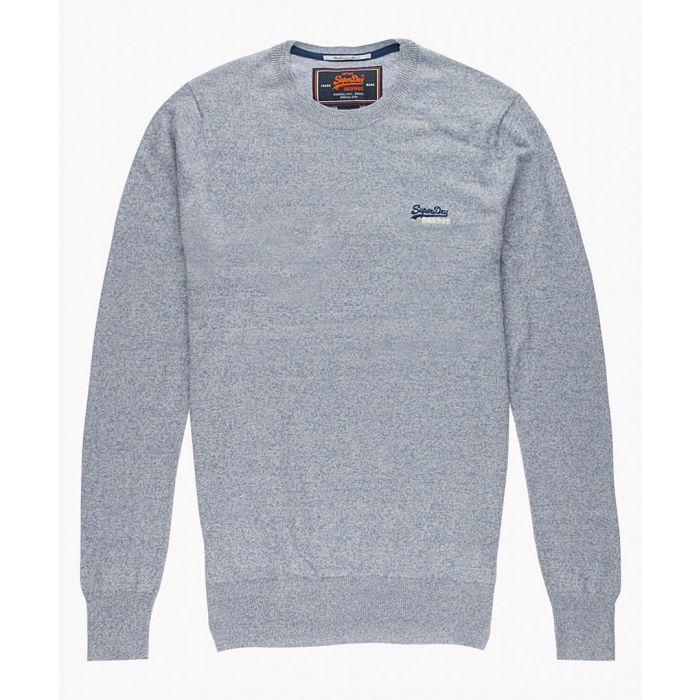 Image for Orange Label grey cotton blend crewneck top