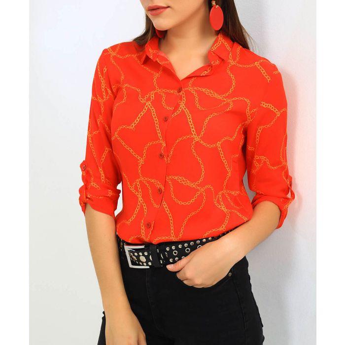 Image for Pomegranate chain print shirt