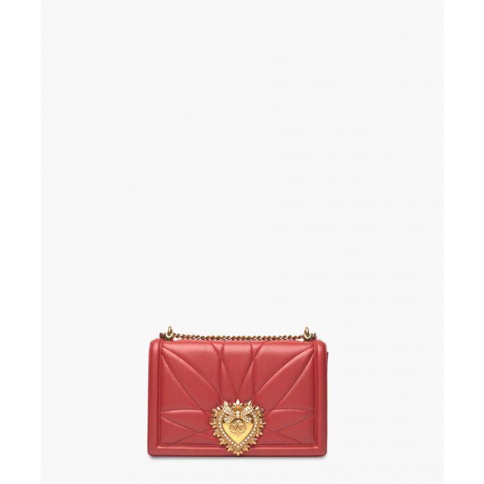 Image for Devotion red quilted nappa leather large shoulder bag
