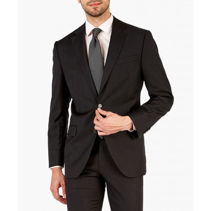 Image for Coal black pure wool suit