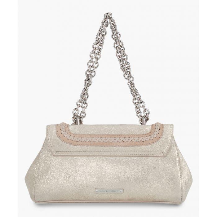 Image for Baguette Redmayne cream metallic leather shoulder bag