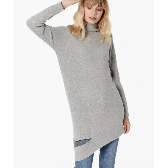 Image for Light grey pure cashmere dress